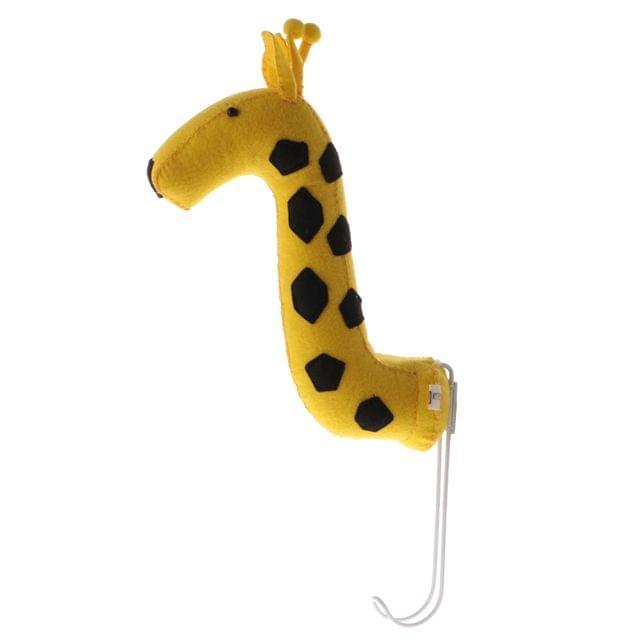 Felt Wall Mount Giraffe Head Sculpture Home Children's Room Hanging Hanger