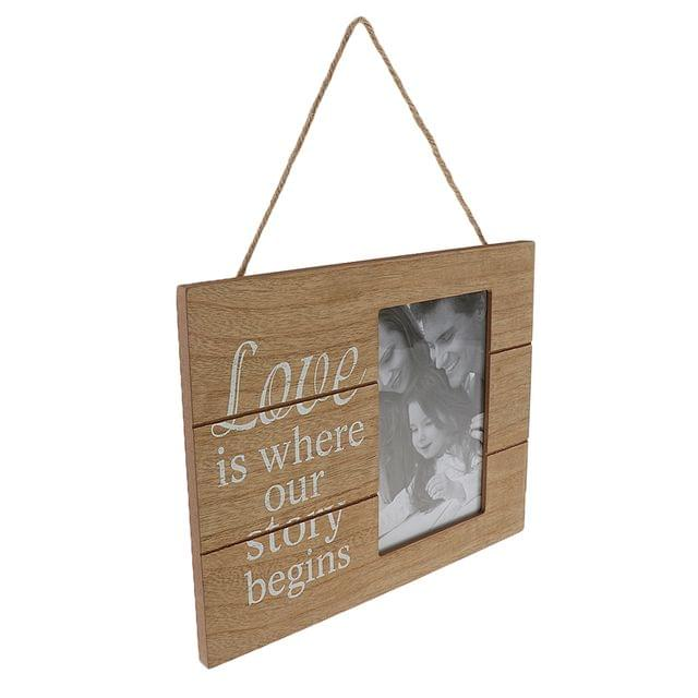 Love Makes Our House A Home Country Family Photo Frame Rectangle Wooden Hanging Picture Frame Holder Home Decoration