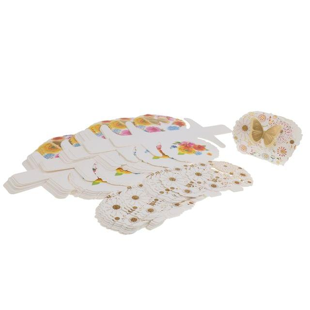 50Pieces Floral Butterfly Wedding Box Candy Gift Box Party Supplies Decor