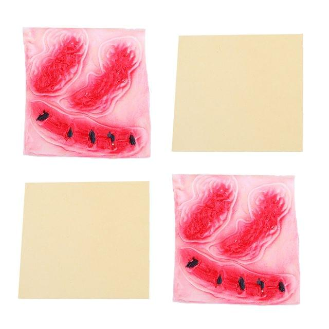 2 Pieces Halloween Scary Zombie Bloody Wound Scars Costume Makeup Sticker Party Prank Joke Prop