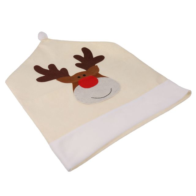 Christmas Chair Cover Xmas Home Party Dinner Banquet Deer Seat Back Covers Table Decoration