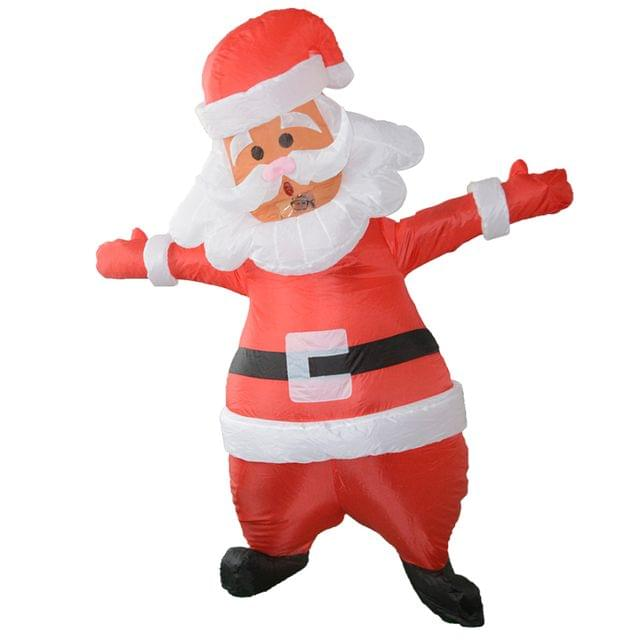 Adorable Holiday Christmas Santa Claus Suit Inflatable Full Body Costume Fancy Dress Party Outfit 1.8m