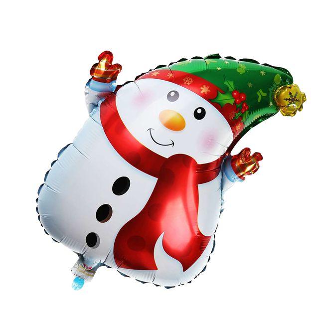 Holiday Christmas Big Cheerful Snowman Aluminum Balloon Mall Market Xmas Home Party Inflatable Balloon Ornament