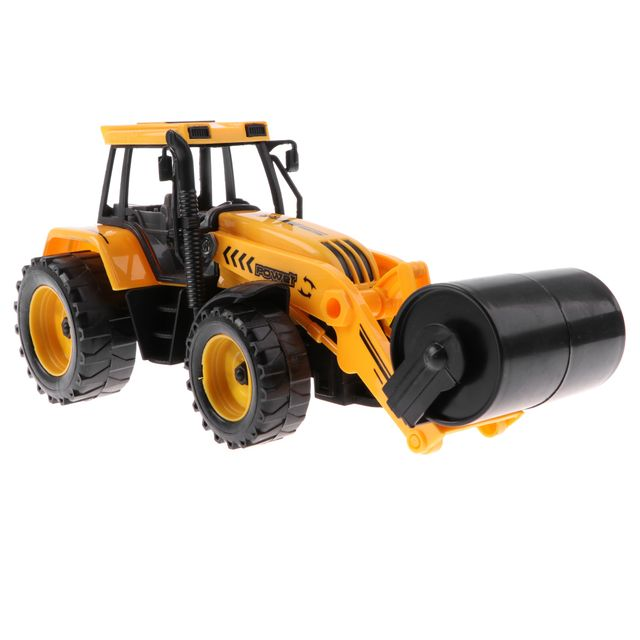 1:30 Inertial Road Roller Engineering Vehicles Flexible Die-cast Cars Model Construction Truck Toy Kids Xmas Gift