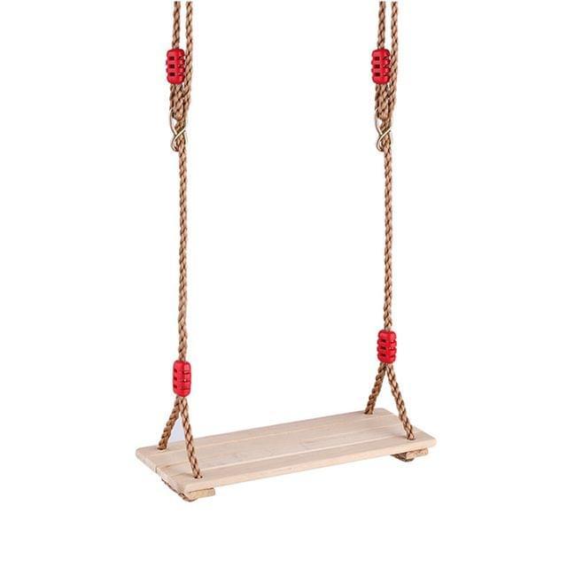 100KG Adjustable Rope Wooden Flat Swing Seat Garden & Patio Hanging Swinget Children Summer Outdoor Sports Game Toy