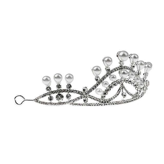 Bridal Princess Pearl Crystal Tiara Wedding Headband Crown Hair Accessories