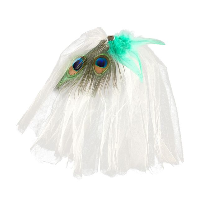 Elegant Wedding Bridal Peacock Feather Tulle Bridal Veil Fancy Dress