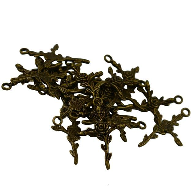 20 x Vintage Bronze Rose Flower Cross Charms Jewelry DIY Making Crafts