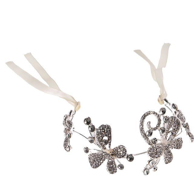Diamante Crystal Butterfly Bridal Headpiece Headband Wedding Party Tiara
