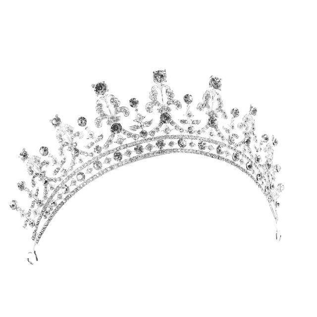 Vintage Sparking Rhinestone Crown Tiara Headband Wedding Hair Accessories