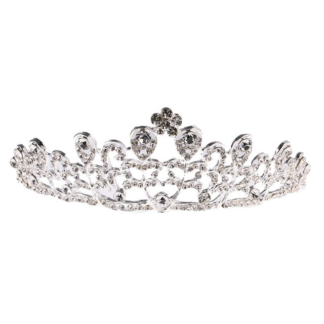 Wedding Bridal Crystal Rhinestone Flower Crown Tiara Headband Accessories