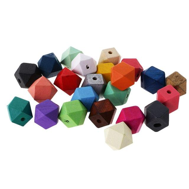 23 Pieces/ Pack DIY Dyed Colorful Beads Jewelry Making Crafts for Necklace Bracelet Octagonal Beads Jewelry