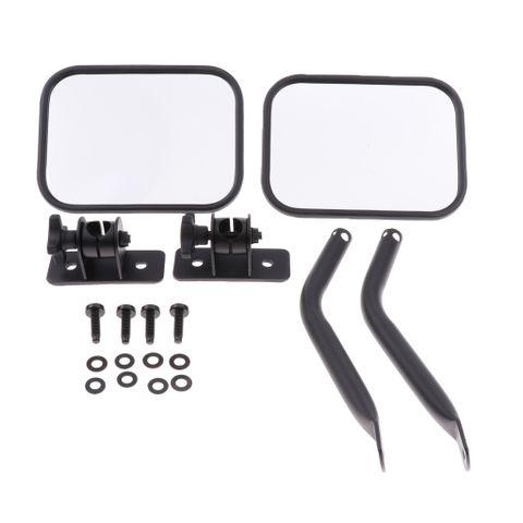 2Pcs RR Reversing Mirror Rectangular Mirrors For Jeep Wrangler 97~06 07~17