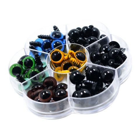 56 Pieces 12mm Plastic Colorful Safety Eyes Washers For Doll Animal Stuffed Toys