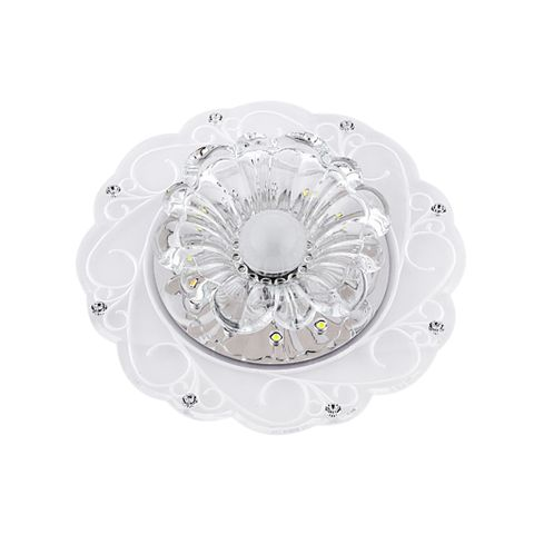 Diwali Crystal Lotus Pendant Light Hallway Light Ceiling Lamp Light for Holy Festival Event 3W