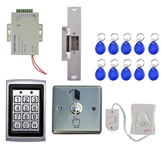 Full Complete Access Control System Set Security Proximity Entry Door Password Keypad Lock Kits