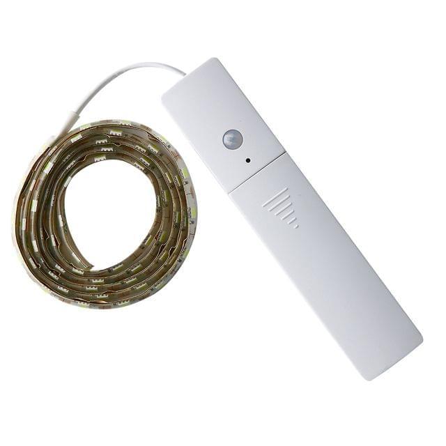 60-Led SMD Rope Tape LED Light Strip Infrared Sensor LED Inside Cupboard Wardrobe Cabinet Lighting White
