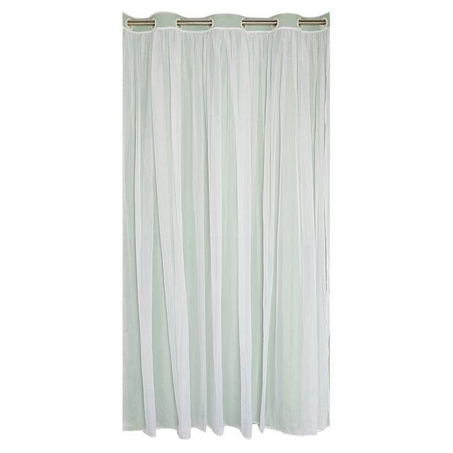 Home Bedroom Window Door Decor 2-in-1 Sheer Curtain Window Blinds Drape With Grommets Top 150x250cm-Green