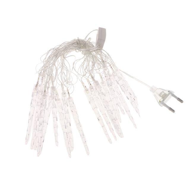 4m 20-LED Christmas Party Decor String Lamp, Icicle RGB Flashing Rope Lamp