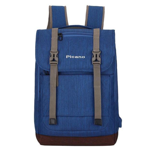 Blue Unisex Shoulder Nylon Backpack Rucksack School 15.6''Laptop College Bag