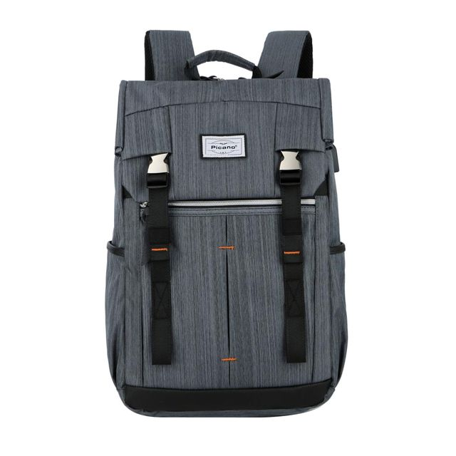 Nylon 15.6'' Laptop Bag Travel Backpack Satchel Rucksack School Bags-Grey