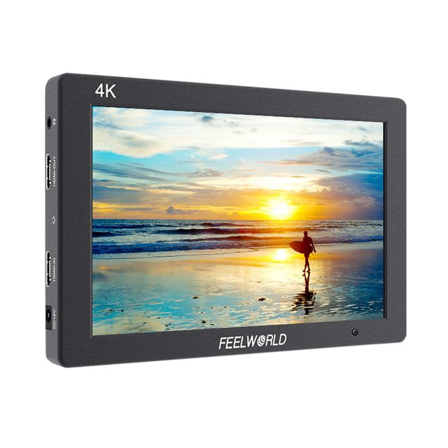 "FEELWORLD T7 7"" 4K On-camera LCD Display Monitor With Sunshade Hot Shoe Mount for Canon Nikon"