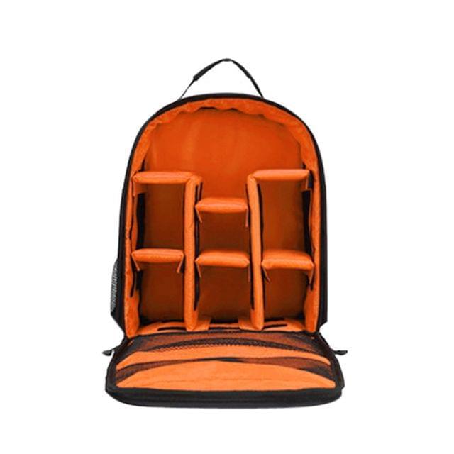 Waterproof Camera Backpack Shoulder Bag for Camera Lens & Tripod Accessory Orange