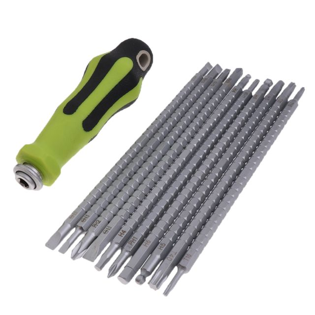 11 In 1 Precision Phillips and Slotted Screwdriver Set Household Repair Tools