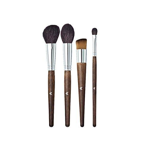 4 Pieces Makeup Brushes Set for Face Lip Eye Foundation Powder Cream Blush Bronzer Comestic