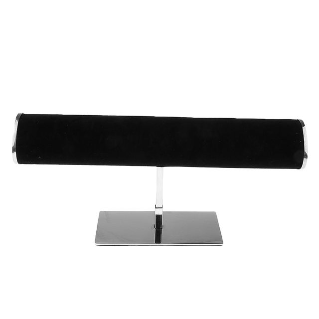 Stainless Steel Watch Display Holder Store Watches Bracelet Jewelry Woman Accessories T Bar Showcase Stand