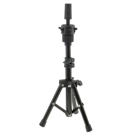 Heavy Duty Metal Cosmetology Hairdressing Mannequin Manikin Practice Training Head Holder Tripod Stand Black