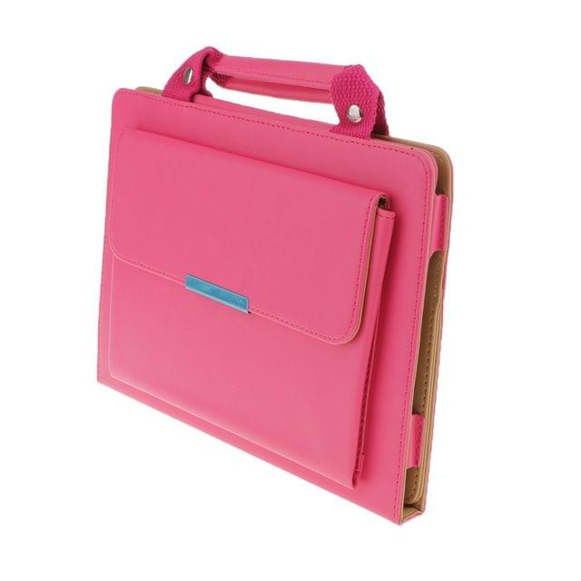 Lightweight Fashionable Convenient Carry Handbag Magnetic Smart Stand Case Cover COMPATIBLE FOR Apple IPad Air 2 Pink