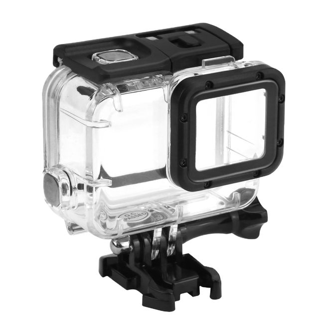 Waterproof Housing Case Cover for GoPro Hero 5 Camera with Glass Lens Cap