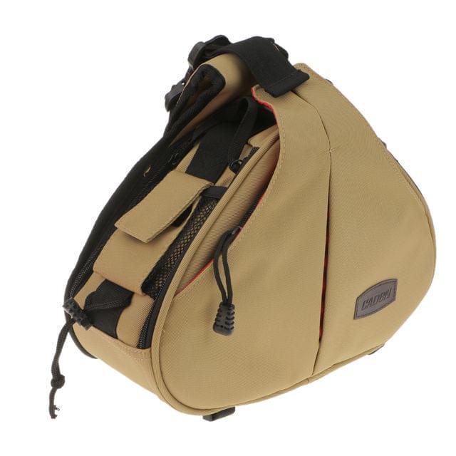 DSLR Camera Bag Shockproof Backpack Waterproof Shoulder Case Bag Khaki