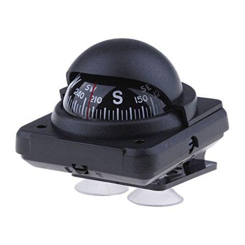 Black Compass Self-Suction Mount for Car Caravan Boat Navigation Sailing
