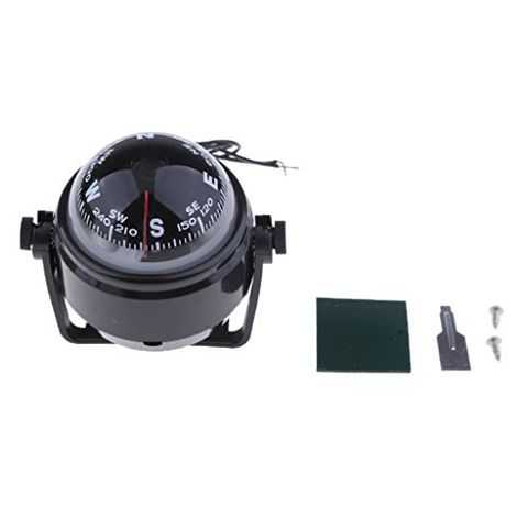 Marine Boat Compass with Mounting Kit for Caravan Truck Car Sailing Navigation