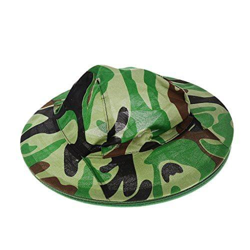 Ultra-Light Outdoor Anti-Mosquito Mask Hat with Head Net Mesh Face Protection - Camouflage Color