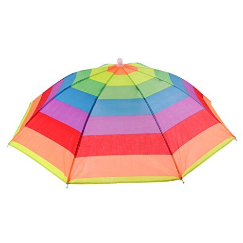 Umbrella Hat Rain Protection Foldable Sun Shade Hiking Headwear Cap Head Hat One Size Fits Most
