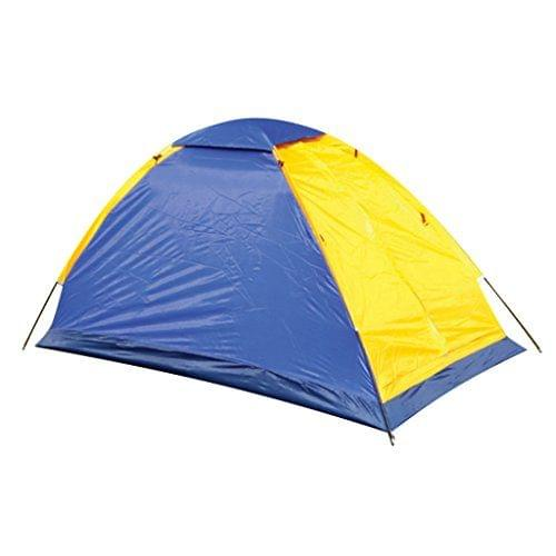 Lightweight Waterproof 1 Person Camping Backpacking Tent with Carry Bag Blue & Yellow Color