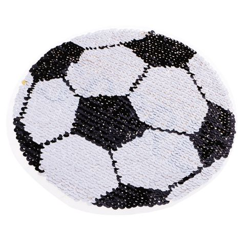 Reversible Football Sequins Patch Embroidery DIY Sew on Patches for Clothes T-shirt Jeans Clothing Bags