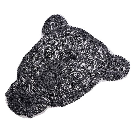 Leopard Pattern Embroidery Patch Sequin Motifs Sew On Patch Clothes Applique