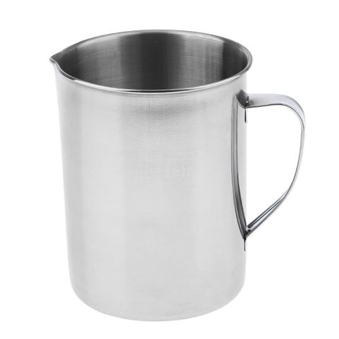 Stainless Steel Laboratory Measuring Cup Mug Beaker Lab Graduated Beaker + Handle 2L