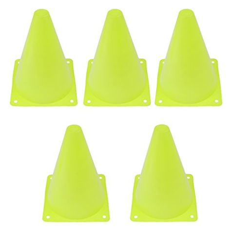 6.7 inch Safety Agility Cone for Sports Fitness Football Soccer Beginners Athletics Field Practice Speed Training Cone Pack of 5PCS Green