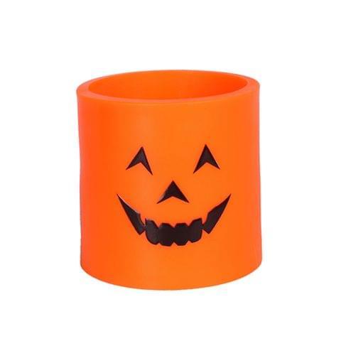 Smile Face Pumpkin Lamp LED Flameless Tealight Candle Wedding Party Decor