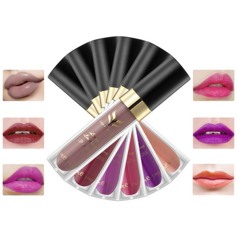 6pcs Waterproof Matte Velvet Lip Gloss Makeup Lipstick Lip Pencil Long Lasting
