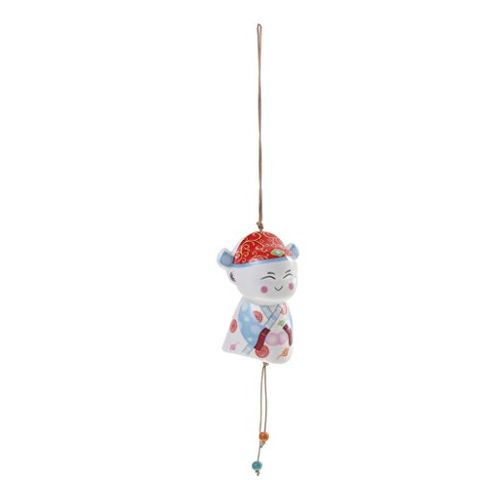 Handmade Sunny Doll Campanula Red Blue Groom Wind Chime Home Decor Charms Ornaments Gift Accs