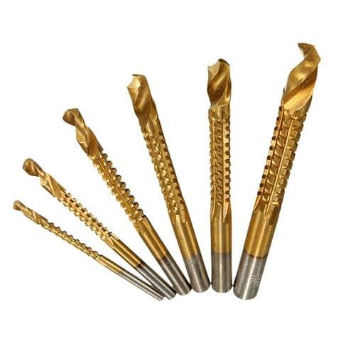 Drill Bit Saw Set HSS Steel Titanium Woodworking Wood 3/4/5/6/6.5/8mm 6pcs