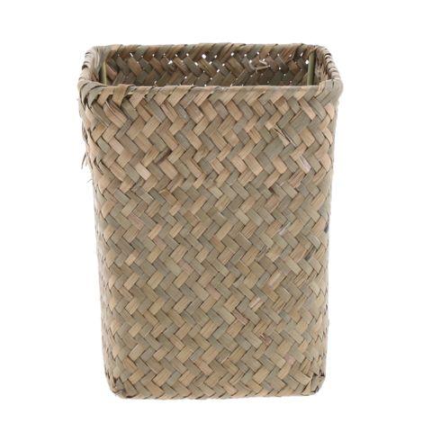 1x Handmade Seaweed Woven Flower Holder Basket Vase Tray for Home Decoartion