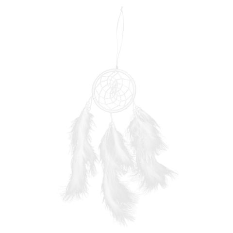 Indian Style Dreamcatcher with Feather Bead Handmade Birthday Christmas Gift Wall Hanging Decoration White