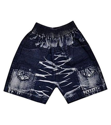 LEWEL Boys Blue Denim Shorts Casual Dress, Extra Soft to Keep Baby Warm & Cosy – 100% Tested Cotton Denim - Comfort Fit, 1 Years to 4 Years